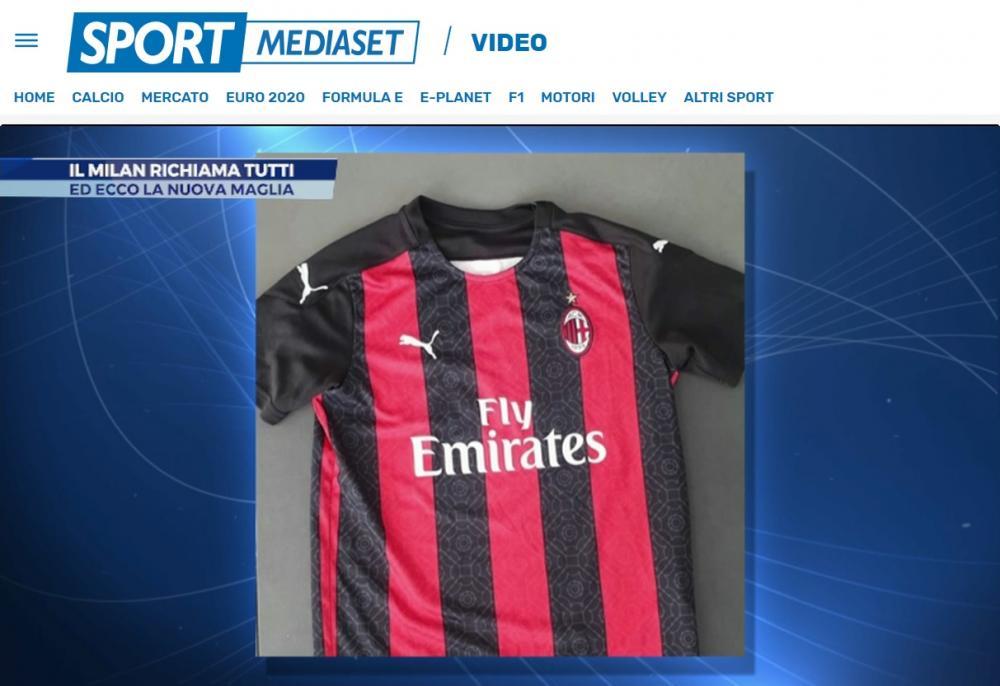 Sportmediaset - La possibile nuova maglia del Milan 2020/2021